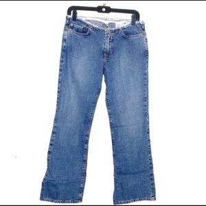 Lucky Brand Dungarees fryed waisted jeans